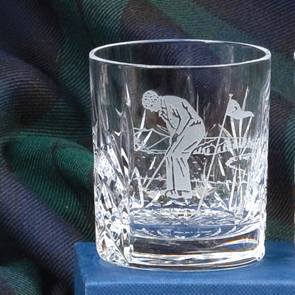 Royal Scot Crystal Shot / Tot Tumbler, Hand Cut Kintyre (with panel for engraving) (Gift Boxed) 60mm