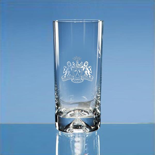 Dimple Base Glass Highball Tumbler (engraved)