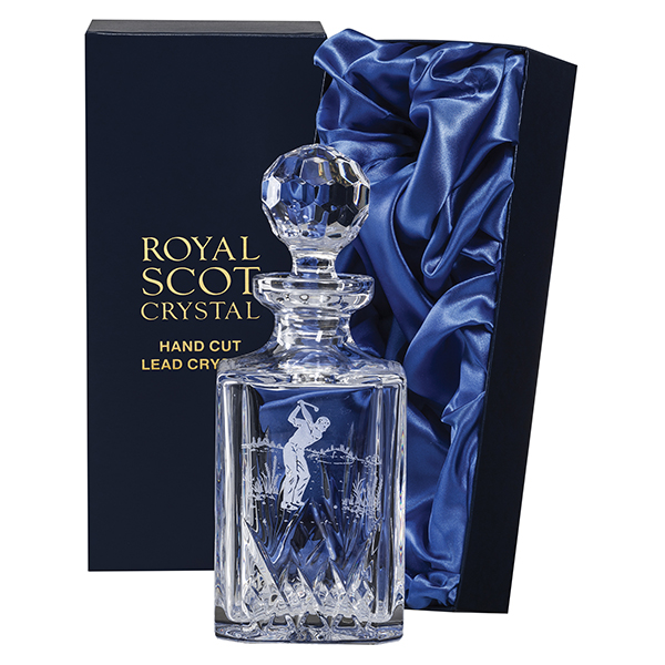 Royal Scot Crystal – Square Spirit Decanter 'Highland'