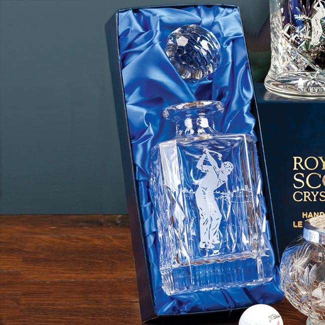Royal Scot Crystal – Square Spirit Decanter 'Kintyre'