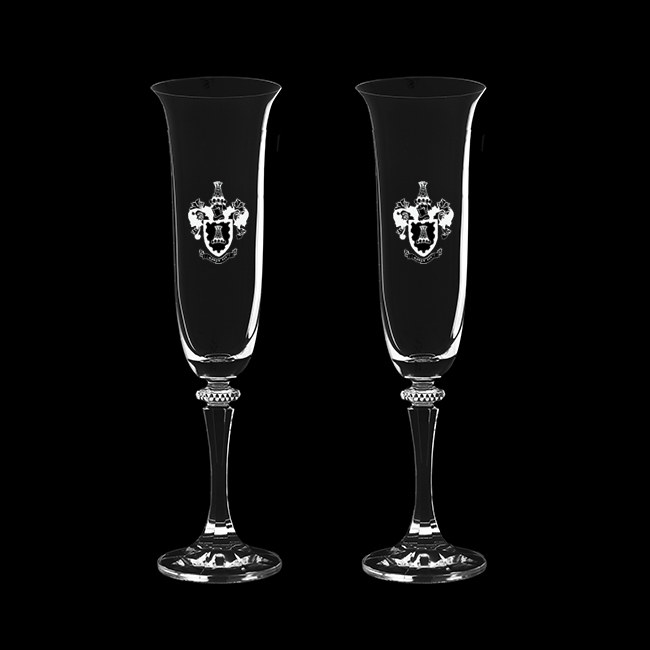 Royal Scot Crystal – 'Classic' Champagne Flutes (pair)