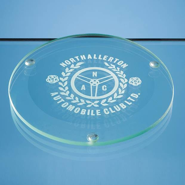 Round Glass Coaster with acetate feet (D 100mm)