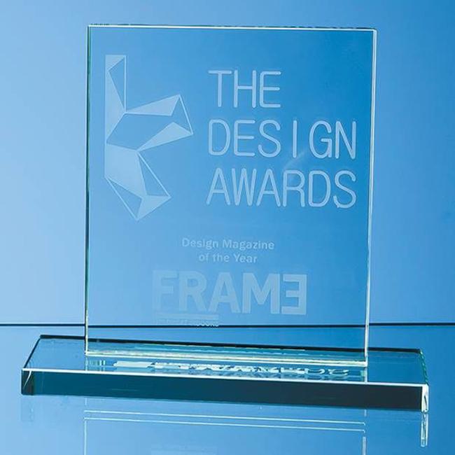 Jade Glass Rectangle Award (medium)