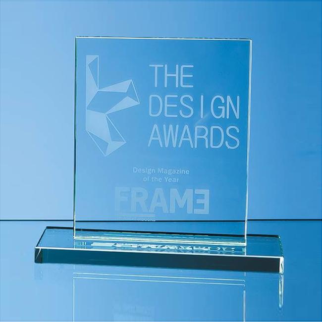 Jade Glass Rectangle Award (small)
