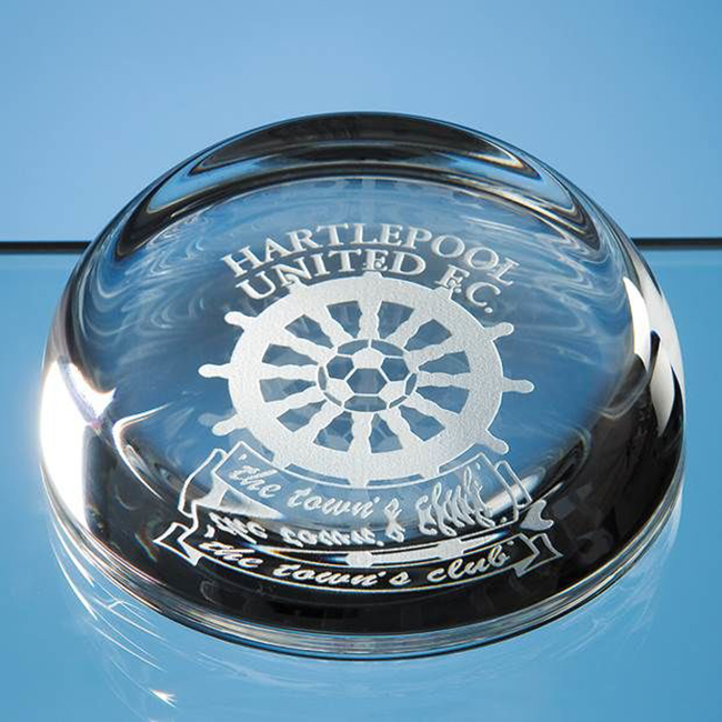 Paperweight (Flat Top Dome Optical Crystal) (9cm)
