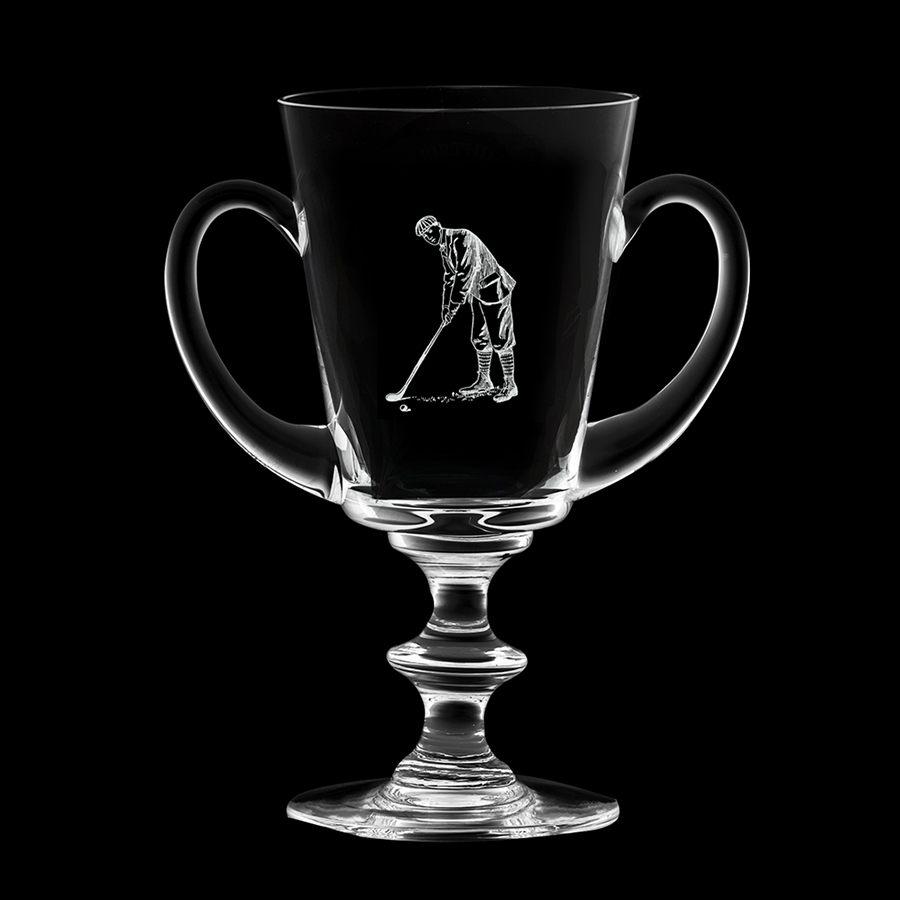 Royal Scot Crystal Handled Trophy